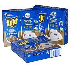 Raid Night & Day Trio Insektenstecker Mückenstecker Nachfüller 3 Stück *WS
