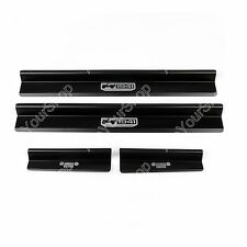 Door Sill Entry Guard Scuff Plate Protector For Jeep Wrangler JK 4Dr Black UE