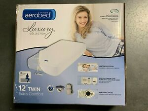 """Aerobed Luxury Collection Extra Comfort 12"""" Height Twin Air Mattress/Bed"""