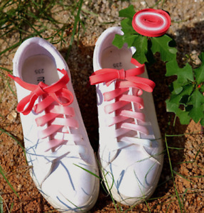 FLAT GRADIENT CANDY WATERMELON SHOE LACES approx 100cm  -1 Pair of Shoelaces