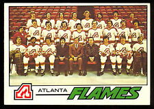 1977 78 OPC O PEE CHEE HOCKEY #71 ATLANTA FLAMES TEAM CARD NM UNMARKED CHECKLIST