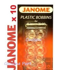 Genuine Janome Sewing Machine Plastic Bobbins X 10 in Pack