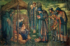Étoile de bethléem par burn-jones toile ou fine art print jesus marie poster new