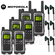 10 km Motorola TLKR T80 Talkie Walkie Two Way Sécurité Loisirs Radio + 6 casques