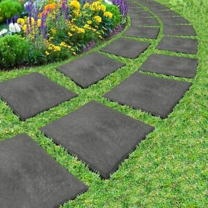 Stomp Stone Stepping Stones Recycled Rubber Hard Wearing Durable Pack Of 4