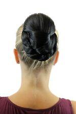 Evita Haarteil breit geflochten Zopf Dutt Haarknoten Tracht Schwarz Oval TC-2073