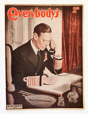 Vintage Everybody's Weekly Magazine: June 10th 1944, The Kings Working Day.