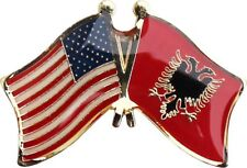 Wholesale Pack of 6 USA American Albania Flag Bike Hat Cap lapel Pin