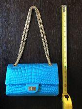 b2f94de2a25f Chanel Turquoise Blue Small/Mini 224 Classic 2.55 Reissue Flap Bag GHW 63155