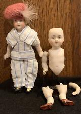 "2 Antique Kestner German Bisque Character Dolls 6""&5"" Preowned"