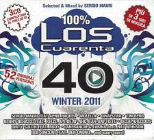 3 CD Box ♫ Compact disc **LOS CUARENTA 40 ♦ WINTER 2011** Nuovo Triplo Sigillato