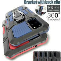 Hybrid Armor Case Shockproof Cover Ring Stand Holder For Samsung S20 FE Note 20