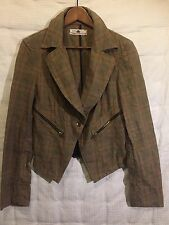 FORNARINA Italy - Women's Fitted Checked Blazer Jacket – Size L