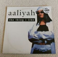 Aaliyah - The Thing I Like, 12in UK Vinyl Plus Free Poster, Paul Gotel mixes
