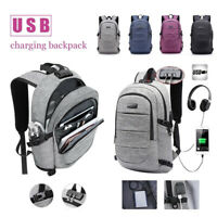 Laptop Backpack Anti Theft Waterproof Bag USB Charging Port for College Student