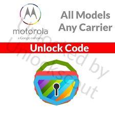Motorola Moto G E X 4G LTE 2nd 3rd Gen Telus Koodo Canada Network Unlock Code