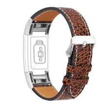 For Fitbit Charge 2 Watch Band Leather Replacement Wristband Straps Brown Stone