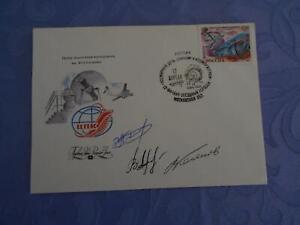 Sojus TM-18 Beleg original Crewsigniert Space