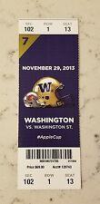 Washington Huskies Washington State Football Full Ticket 11/29 2013 Apple Cougar
