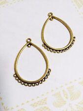 Earring Findings Chandelier Earring Findings Antiqued Gold Connector Pendants 10