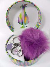 DreamWorks Trolls Women's Faux-Fur Purple Pom Pom Keychain Watch 23mm TRLAQ161