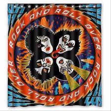"""Custom New Kiss Band 12 holes to which rings attach Shower Curtain 66"""" x 72"""""""