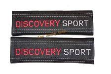 Cintura Copre PELLE NERA RICAMO Discovery Sport CUCITURE BIANCHE NUOVO