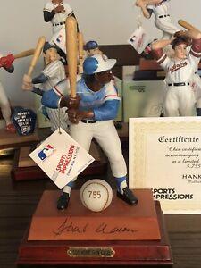 HANK AARON Sports Impressions Figurine #5375/5755 ATLANTA BRAVES COA BOX MINT