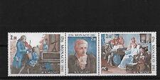 MONACO 1981 Mozart striscia, Gomma integra, non linguellato, sg1485a, CAT £ 14.50