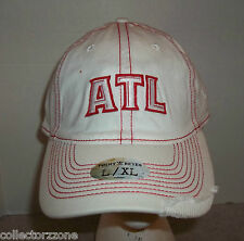 NEW - NBA - ATLANTA HAWKS - FITTED HAT -  POINT AND REYES - L /XL - WHITE