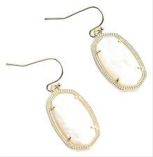 Kendra ScottGold New Dani White Mother Of Pearl Drop Earrings