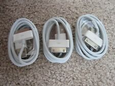 3 White USB DATA CHARGING CABLES FOR IPHONE 4S 4 3GS Sync Charge Cords Wires