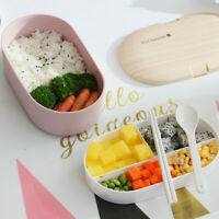Microwave Lunch Box Japanese Wood Bento Box Single Layer Container Storage New