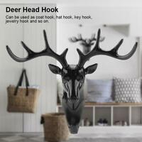 Animal Deer Stags Head Hook Hanger Rack Holder Wall Mount Home Room Decor