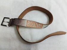 Belt Bio Hazard Chemical Symbols Toxic Waste Skull Black Leather Distressed Belt