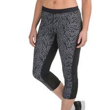 "Merrell Women's Capri Leggings Yoga Black Rear Zipped Pocket 19"" XS"