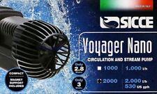 Sicce Voyager Nano 2000 Pompe à Écoulement Doux U. Eau de Mer Aquarium