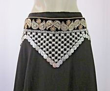 Fabric Metal Chain Coin Fringe Vintage Fashion Belt Festival Tribal Belly dance