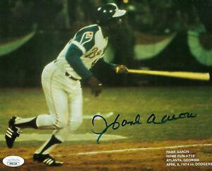BRAVES Hank Aaron signed 715 HR photo 8x10 JSA COA AUTO Autographed Atlanta