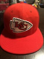 New Era 59FIFTY Kansas City Chiefs KC NFL Fitted Size 7 1/4 Hat Cap Red