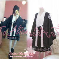 Japanese Vintage Gothic Lolita Sweet Embroidery Haori Bathrobe Kimono Coat Dress