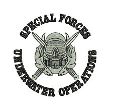 Special Forces Underwater Operations Combat Diver Embroidered Polo Shirt
