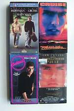Tom Cruise VHS Video 4 Tape Lot