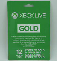 Microsoft Xbox Live 12 Month Gold Membership Subscription for Xbox One /Xbox 360