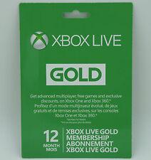 Microsoft Xbox Live 12 Monat Gold Mitgliedschaft Abonnement für Xbox One/Xbox 360