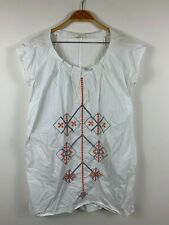 Gorman Smock Dress 2011 GGF1071 Size 12 White Embroidered Design Short Sleeve