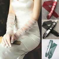 Women's Tulle Sheer Gloves Bride Wedding Gloves Long Gloves Party Dress Gloves