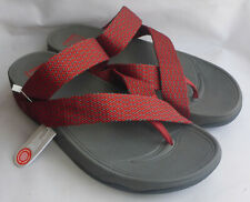 Fitflop Sling Weave Toe Post Classic Red Dark Shadow Sandal Mens Beach Size 11.5