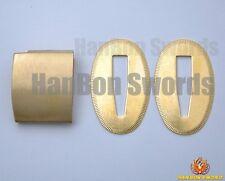 Brass Blade Collor Habaki & Seppa For Samurai Japanese Swords Metal Fittings H01