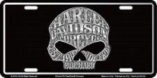 HARLEY DAVIDSON WILLIE G SKULL EMBOSSED METAL NOVELTY LICENSE PLATE TAG